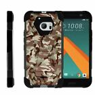 For HTC 10 / HTC One M10 Dual Layer Hybrid Shell Kickstand Fitted Case Cover