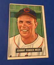 1951 Bowman Johnny Vander Meer #223 Cleveland indians Baseball Card EX+