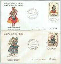 77340 - CAMEROUN - POSTAL HISTORY -  2 FDC COVER 1970 - DOLLS Toys
