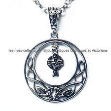 création bijoux celtique et bretons pendentif entrelacs celtiques et croix celte