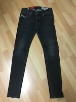 NWD BOYS Diesel TROXER STRETCH DENIM R9F66 D/GREY SLIM W26-27 L30 H5 WORN LOOK