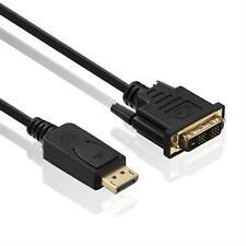 1,5m Displayport Kabel Display Port auf DVI Monitor DP Konverter Adapter Stecker