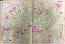 1906 BROMLEY, BOSTON, ROXBURY, MA ST. JOHN'S R.C. CHURCH, HULL SCHOOL, ATLAS MAP