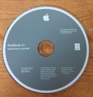 2009 Macintosh MacBook Air Applications Software Installation DVD Version 1.0