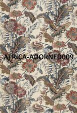 SCHUMACHER BATIK JACOBEAN VINES LINEN FABRIC 10 YARDS DOCUMENT