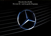 Mercedes SL Prospekt 1989 2/89 Profile R 129 + Modell-Programm brochure Katalog