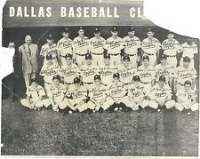 Team Photo of the Dallas Eagles Baseball Team w/ Names c1950s As Is