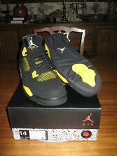 Nike Air Jordan Retro IV 4 Thunder sz 14 DS QS Black Yellow Lightning 308497-008