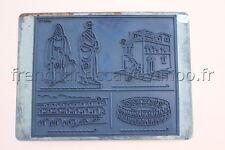C235 Ancien tampon scolaire metal histoire pont du gard arene romain villa 19*14