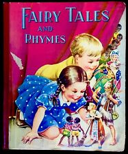 FAIRY TALES & RHYMES ~Rare Vintage Story Book~ TEN LITTLE NIGGERS + Color Plates