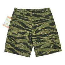 YiHaoTian Men's HBT Camo Shorts Summer Military Tiger Stripes Shorts Camouflage