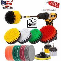 20 Piece Drill Brush Attachments Set, Scrub Pads & Sponge, Power Scrubber Brush