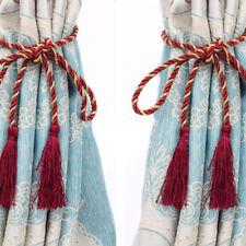 Decorative Rope Fringe Tassel Window Curtain Holdback Tie Back Pair Colorful HS