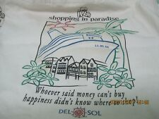 DEL-SOL canvas tote/shopping bag; picture turns color in sun;