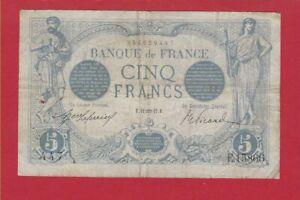 CINQ Francs Bleu 11/01/1917 - E 15866. date très rare!