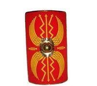 Escudo Romano de Madera con Acabado en Metal Latonado