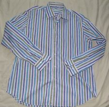 POGGIANTI -1958 -ITALY SUPERB MULTI-STRIPED WORK/DRESS SHIRT UK 18 EU 45