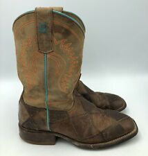 Anderson Bean Boots Youth Size 2 Boys Brown Leather Square Toe Boot Crazy Train