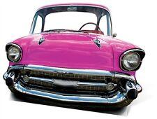 SC-89 Bel Air Auto Pink Stand In ca.136cm x 96cm Pappaufsteller Figur Oldtimer
