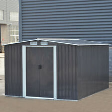 Metal Garden Storage Shed 10X8 Tools House Heavy Duty Tools Organizers with Base