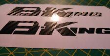 ****Suzuki B-King CARBON FIBRE decals/stickers x2*****