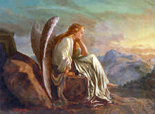 Angel Sitting on Mountain Top, by John Gast