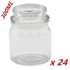 Bulk Clear 300ml Glass Multi-purpose Storage Jar Candle Jar Lolly Candy Jars WMC
