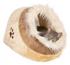 Couchage, paniers et couvertures beige pour chat