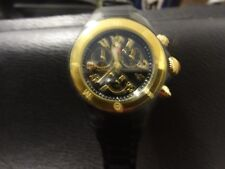 Michele Tahitian Chronograph BLACK AND GOLD Jelly Bean Watch,MWW12F000076