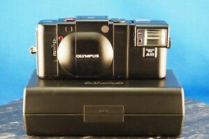 Olympus XA 35mm Rangefinder Film Camera f/2.8 Zuiko Lens in Box W/ Flash