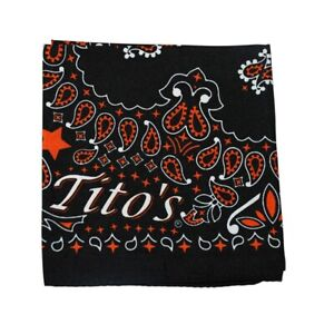 5 TITOS VODKA Bandana Scarf Black
