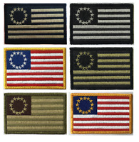 """BuckUp Tactical Morale Patch Hook Betsy Ross Patches 3x2"""""""