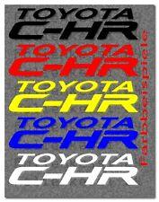 Toyota C-HR Logo 2 Aufkleber Decal Sticker Yaris Corolla Avensis Prius Toyo006