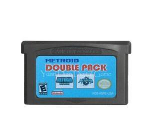 Double Pack Metroid Fusion + Metroid Zero Mision Game Boy Advance GBA Nintendo