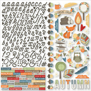 Simple Stories Collection Hello Fall Sticker Combo 12 X 12