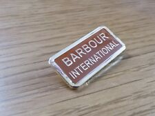 BARBOUR INTERNATIONAL PIN BADGES