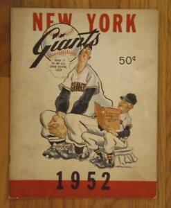 1952 New York Giants Yearbook Willie Mays Bobby Thompson Hoyt Wihelm