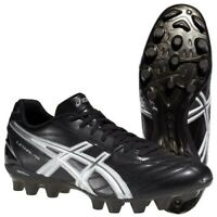 ASICS Men's Lethal RS Rugby Boots - Black/White/Silver - *Various Sizes* - BNIB