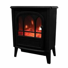1800W Electric Stove Heater Fireplace Log Burn Flame Fire Effect Free Standing
