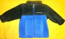 Columbia Baby Boy Jacket Fleece 3-6 Months Black/Blue Color