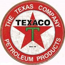 Texaco MOTOR OIL Company Vintage Style Metal Signs 12'' Garage Man Cave Decor 69