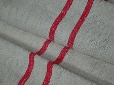 Antique European Feed Sack GRAIN SACK Red Stripe # 9625