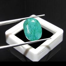 8.10Cts Certified Natural Oval Cut Colombian Emerald Unheated Gemstone CH 7196