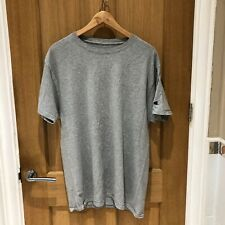 Vintage Champion plain grey T-shirt (L)  - Embroidered champion logo on sleeve