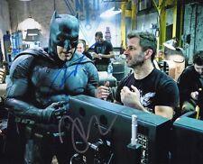 Ben Affleck & Zack Snyder SIGNED 10X8 Photo Batman v Superman AFTAL COA (5231)