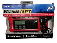 MIDLAND ER200 WEATHER ALERT AM-FM EMERGENCY CRANK RADIO SOLAR POWERED LED LIGHT