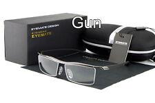 Men's Rimless Memory Titanium Glasses Rx Optical Eyeglasses Spectacles Frame