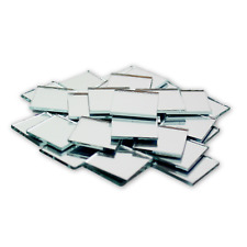 1 inch Small Mini Square Craft Mirror 25 Pieces Mirror Mosaic Tiles