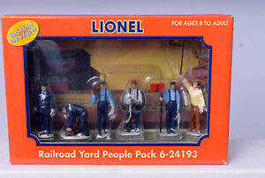 O Scale-LIONEL 6-24193 Railroad Yard Workers Pack 6 Painted Pewter Figures NEW