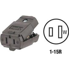 30-Leviton Brown 15A 2-Wire 2-Pole Hinged Electric Cord Connector C20-00102-00P